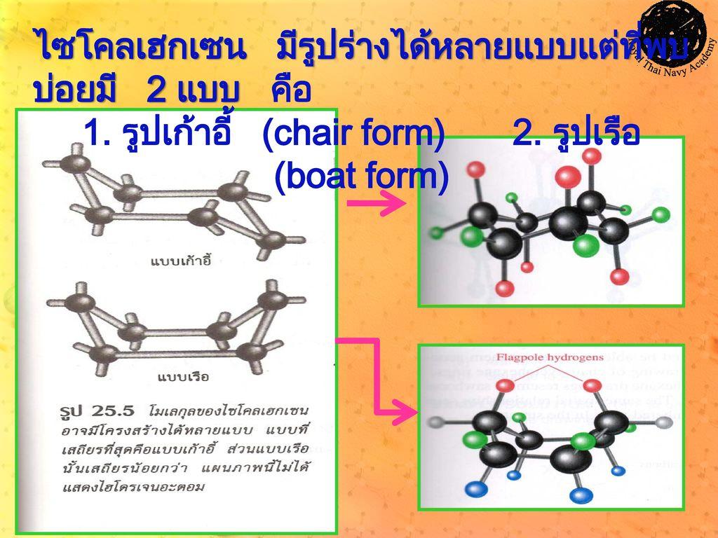 1. รูปเก้าอี้ (chair form) 2. รูปเรือ (boat form)