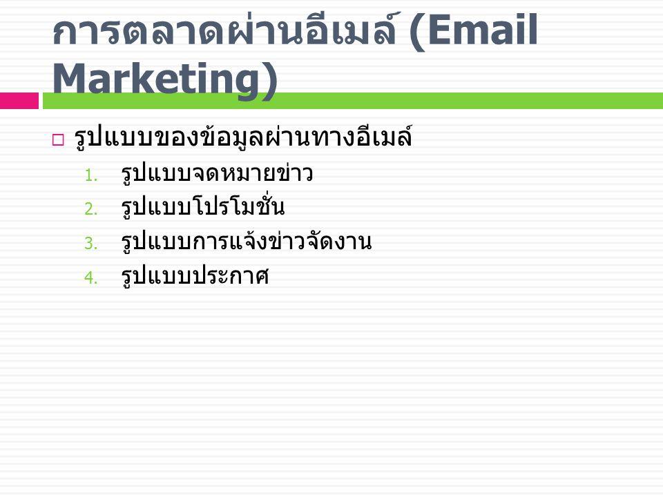 การตลาดผ่านอีเมล์ (Email Marketing)