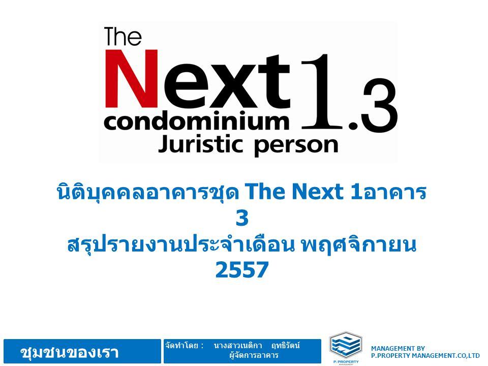 นิติบุคคลอาคารชุด The Next 1อาคาร 3