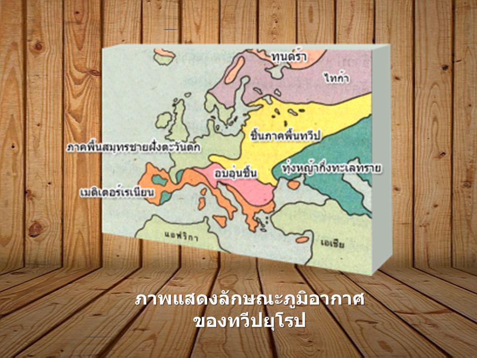 ภาพแสดงลักษณะภูมิอากาศของทวีปยุโรป