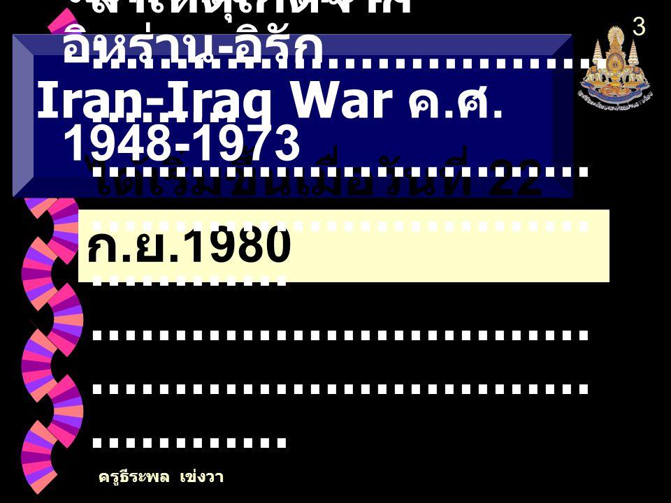 สงครามระหว่างอิหร่าน-อิรัก Iran-Iraq War ค.ศ. 1948-1973