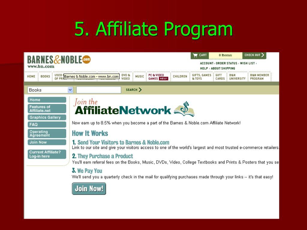 5. Affiliate Program