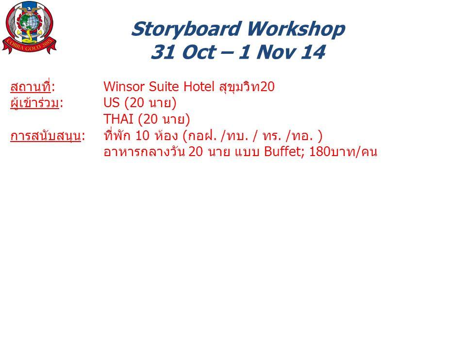 Storyboard Workshop 31 Oct – 1 Nov 14
