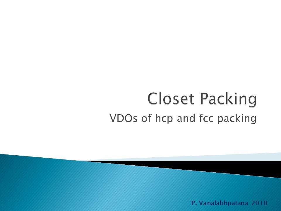 VDOs of hcp and fcc packing