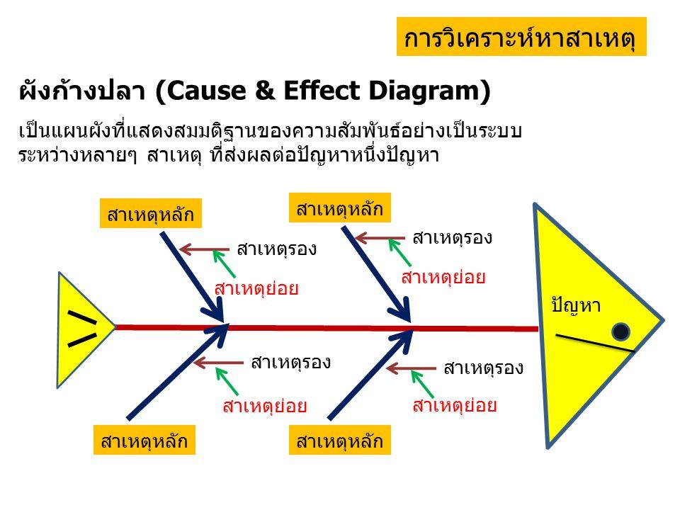 ผังก้างปลา (Cause & Effect Diagram)