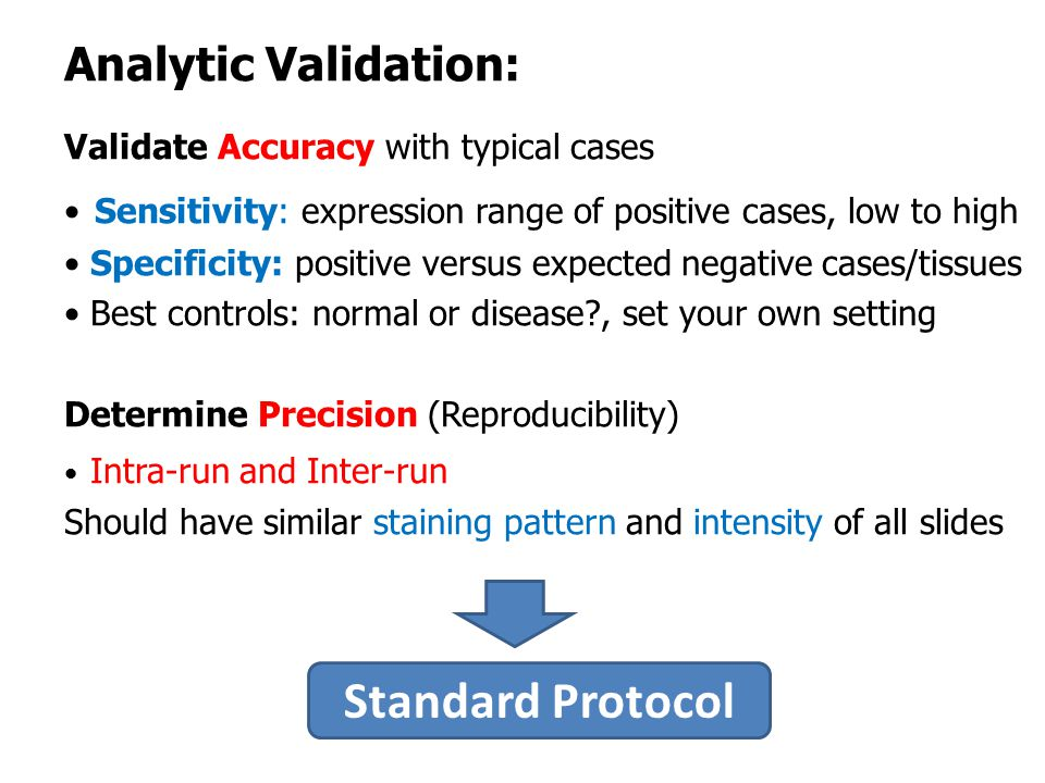 Standard Protocol Analytic Validation: