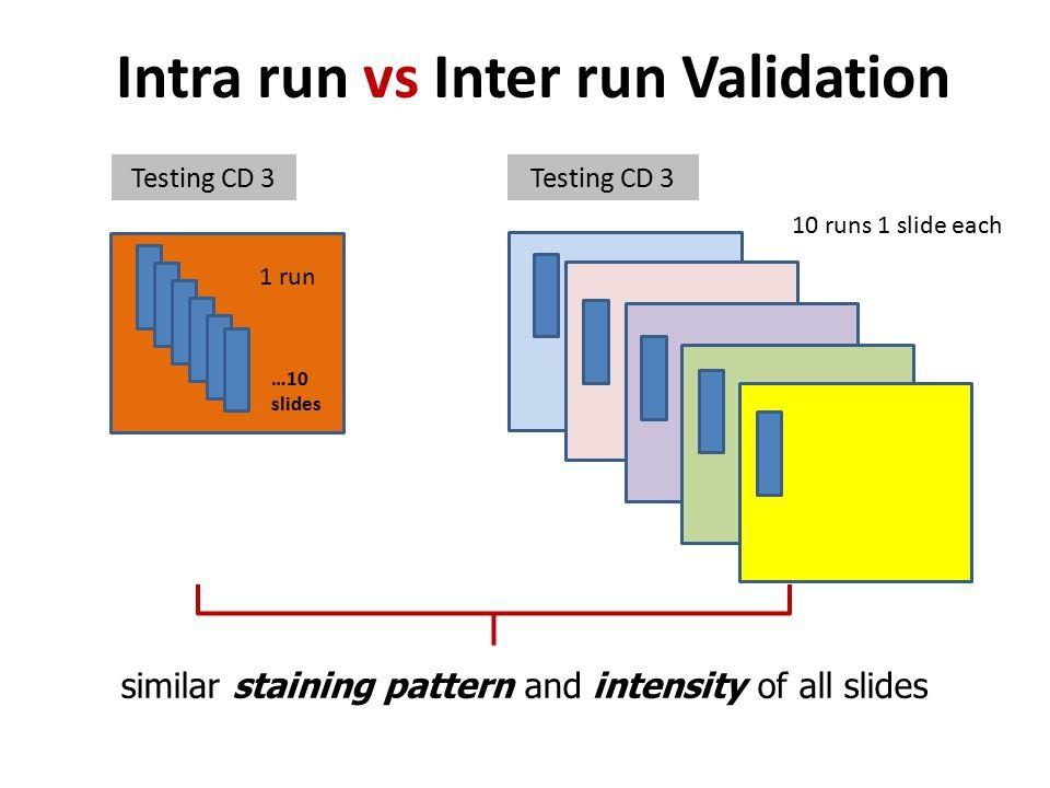 Intra run vs Inter run Validation