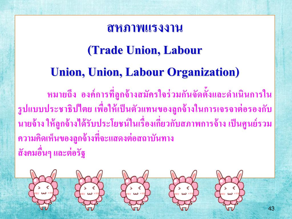 Union, Union, Labour Organization)