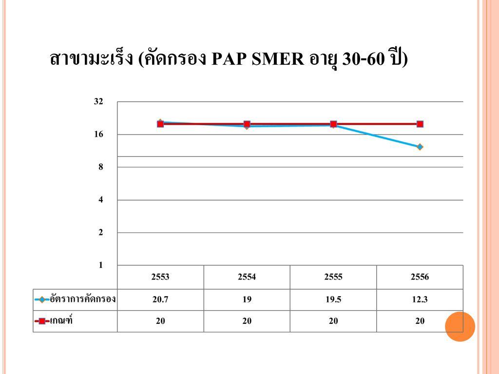 สาขามะเร็ง (คัดกรอง PAP SMER อายุ 30-60 ปี)