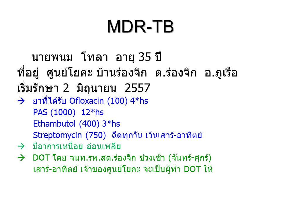 MDR-TB นายพนม โทลา อายุ 35 ปี