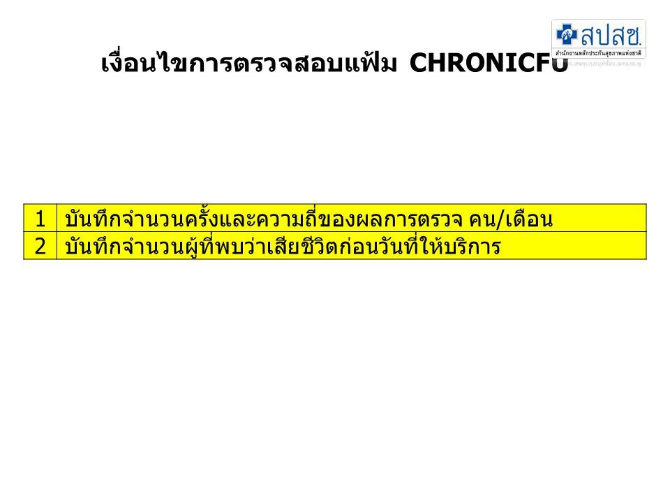 เงื่อนไขการตรวจสอบแฟ้ม CHRONICFU