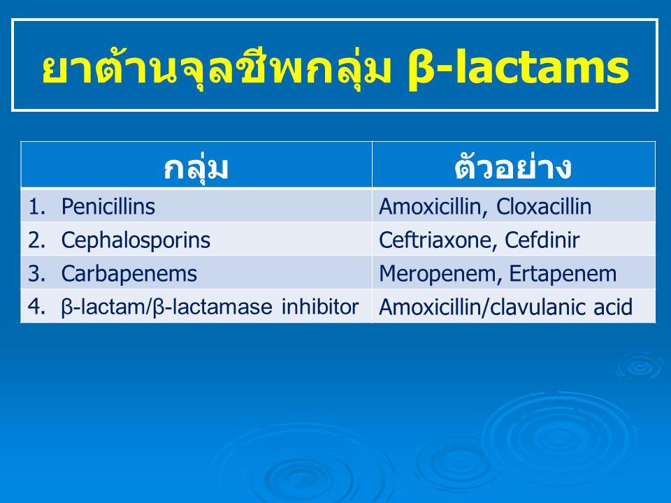 ยาต้านจุลชีพกลุ่ม β-lactams