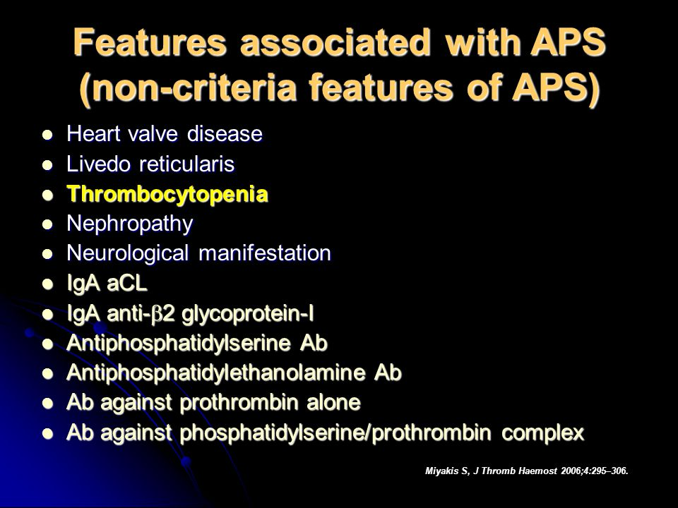 Features associated with APS (non-criteria features of APS)