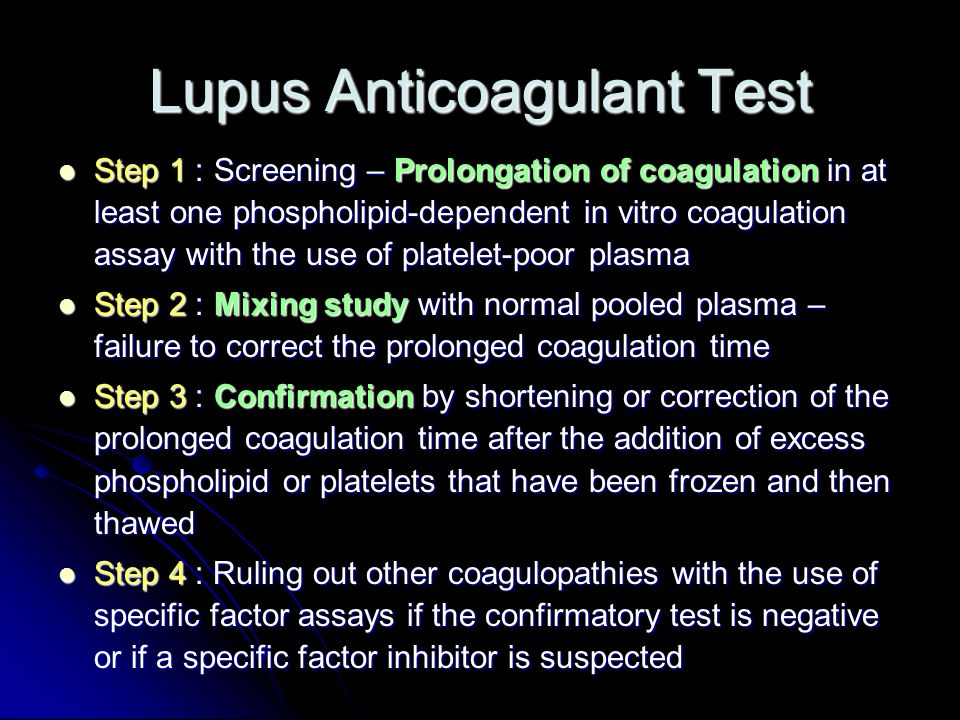 Lupus Anticoagulant Test