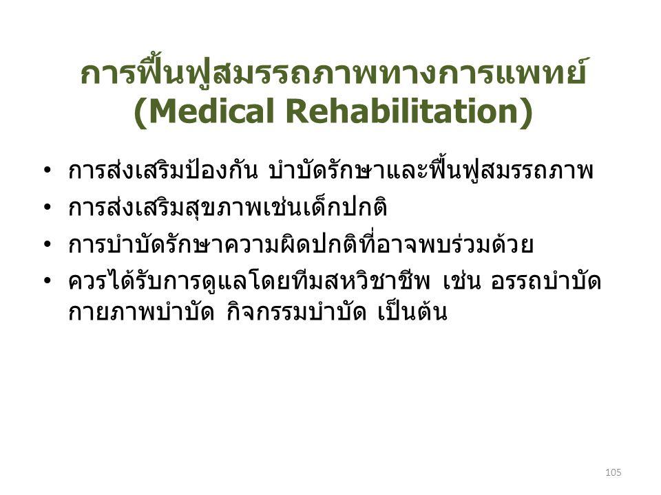 การฟื้นฟูสมรรถภาพทางการแพทย์ (Medical Rehabilitation)