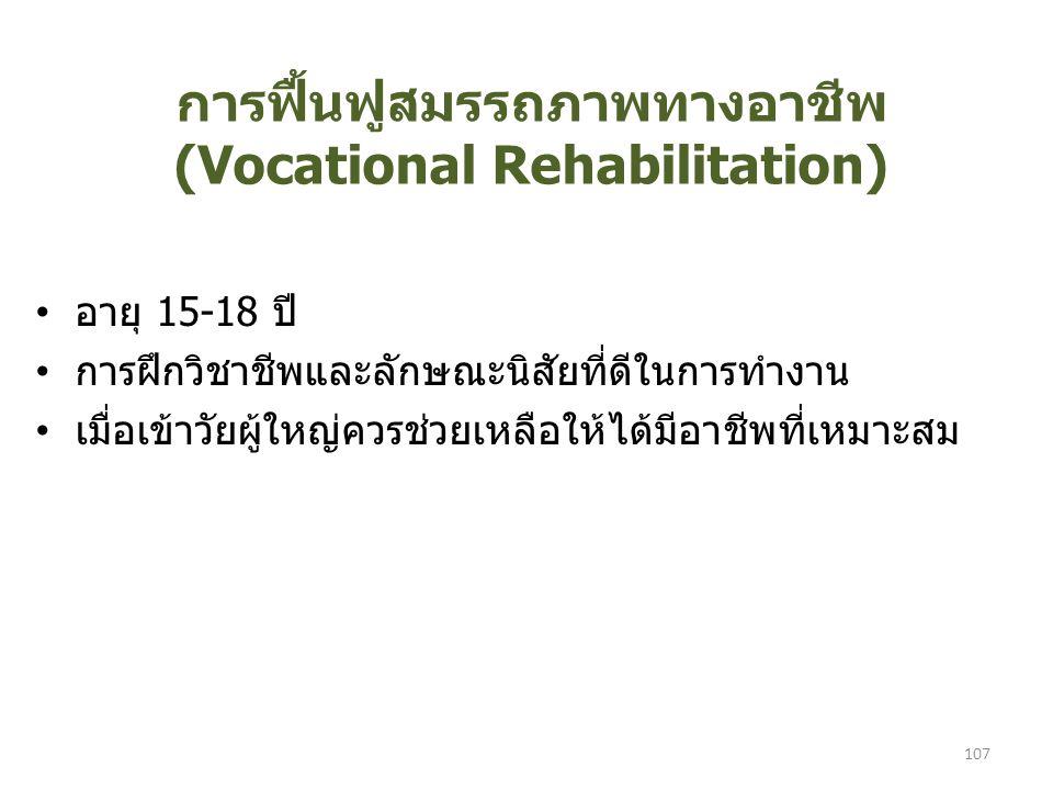 การฟื้นฟูสมรรถภาพทางอาชีพ (Vocational Rehabilitation)