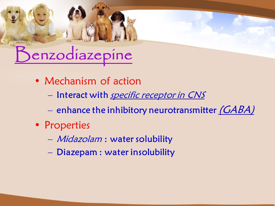 Benzodiazepine Mechanism of action Properties