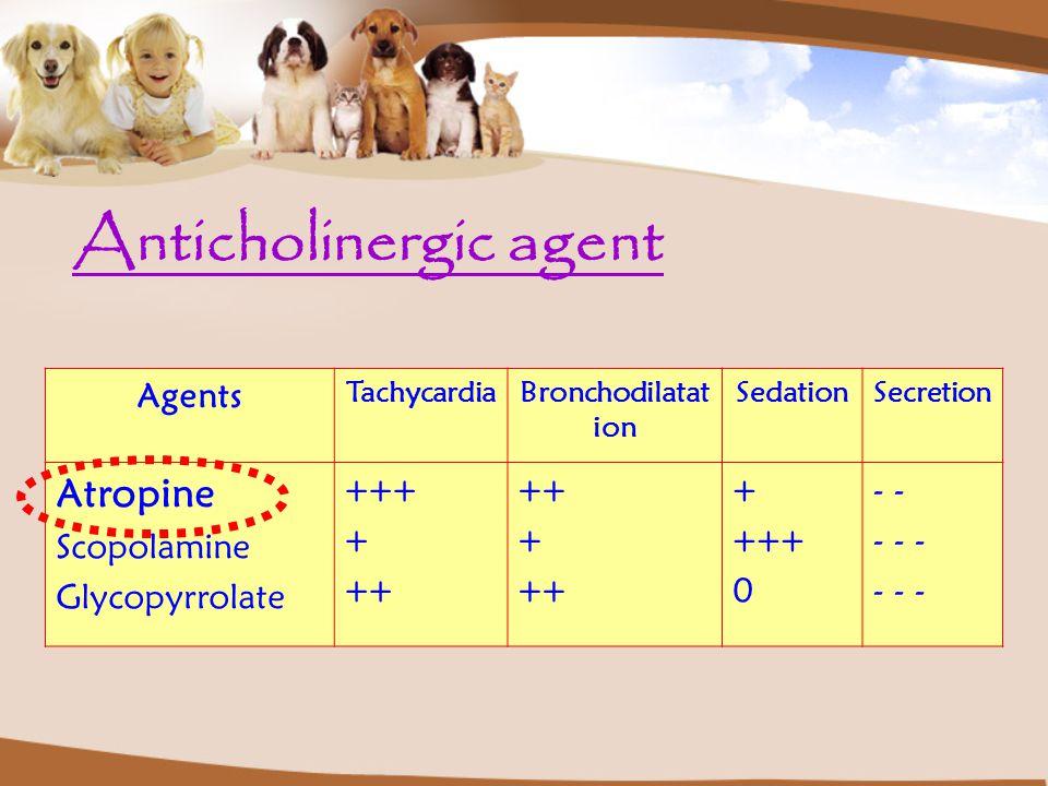 Anticholinergic agent