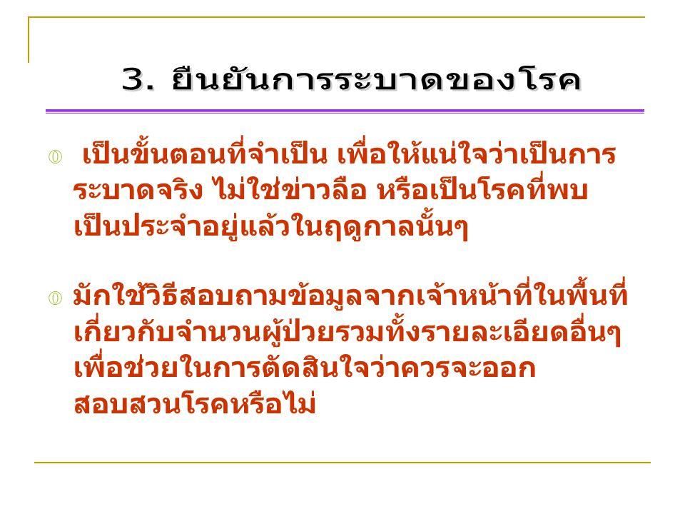 3. ยืนยันการระบาดของโรค