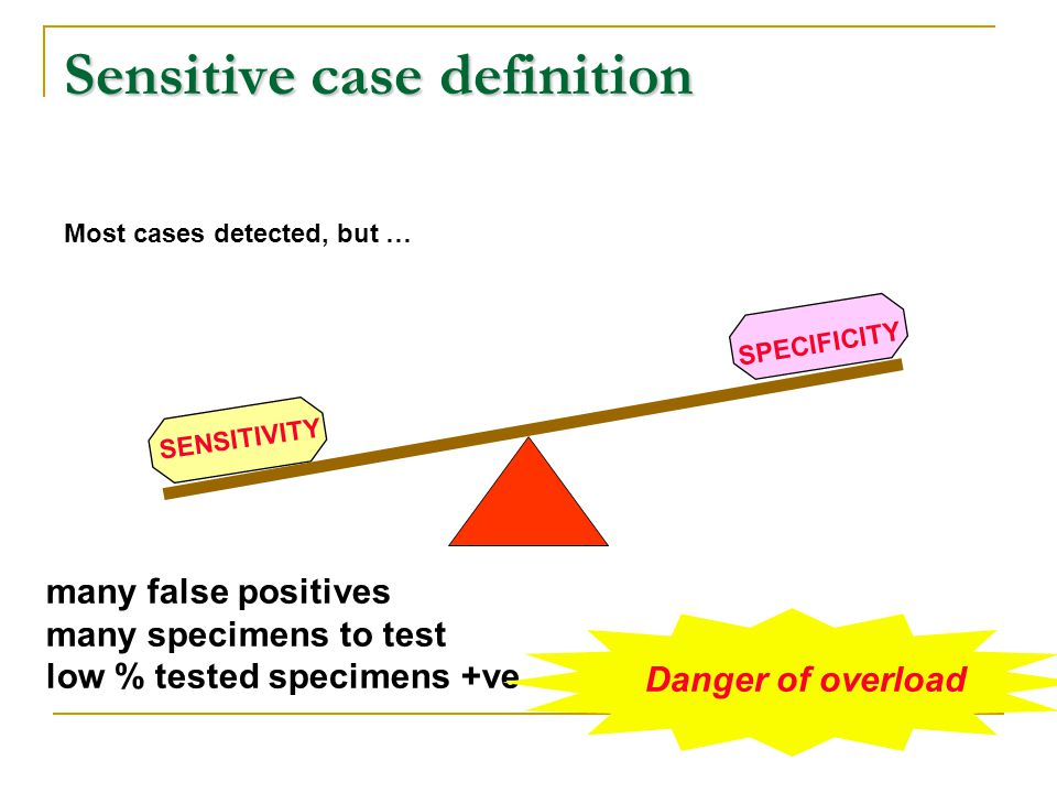 Sensitive case definition