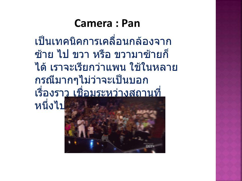 Camera : Pan