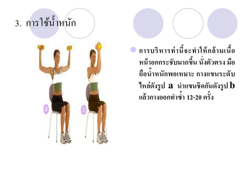 3. การใช้น้ำหนัก