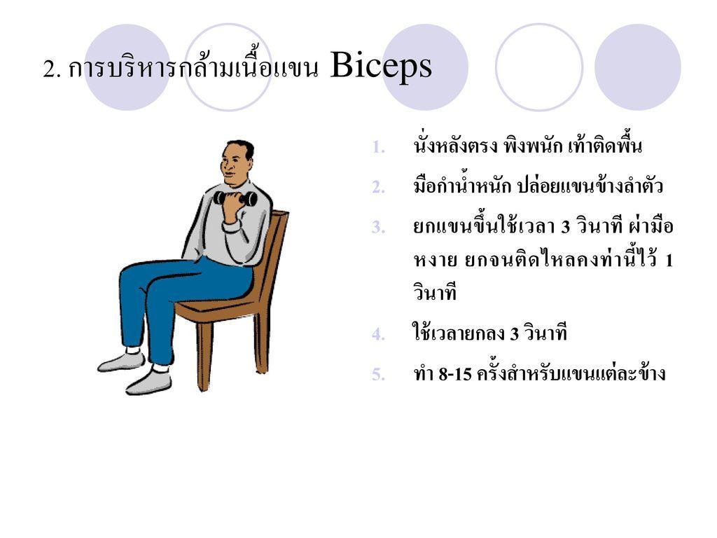 2. การบริหารกล้ามเนื้อแขน Biceps