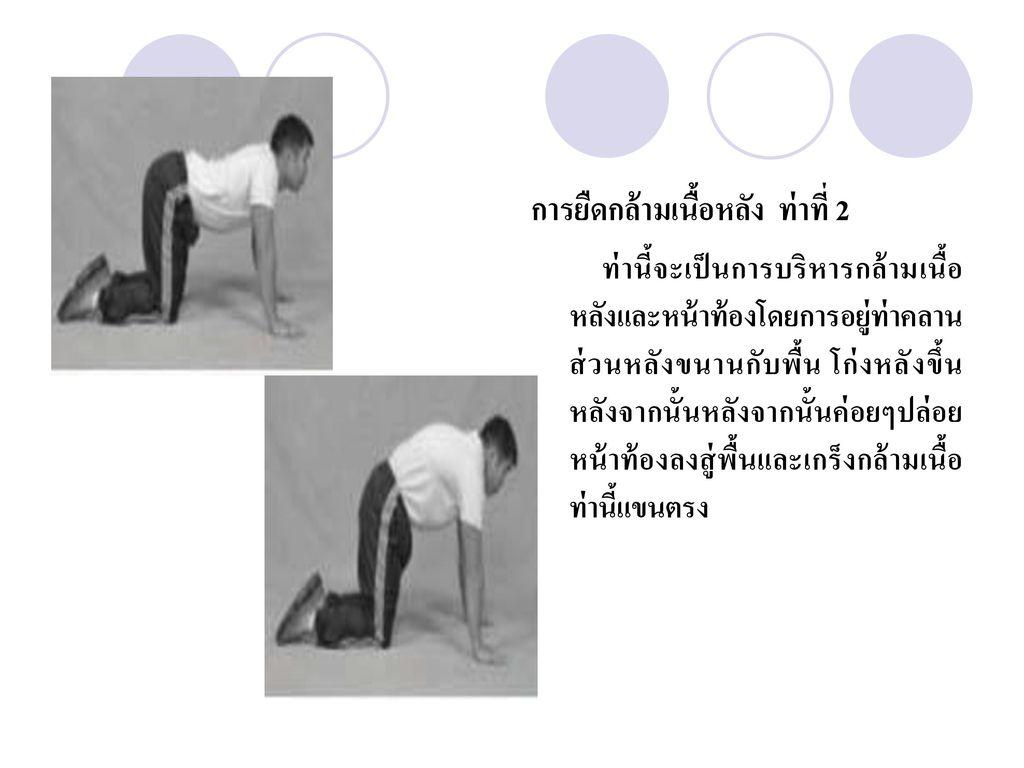 การยืดกล้ามเนื้อหลัง ท่าที่ 2