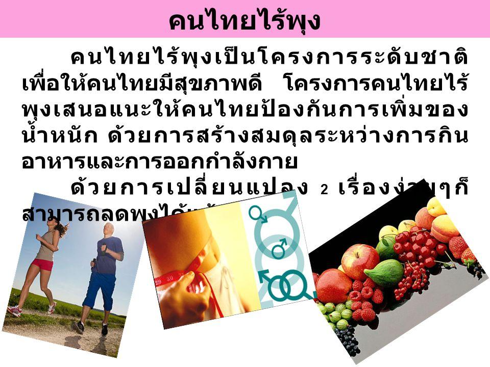 คนไทยไร้พุง