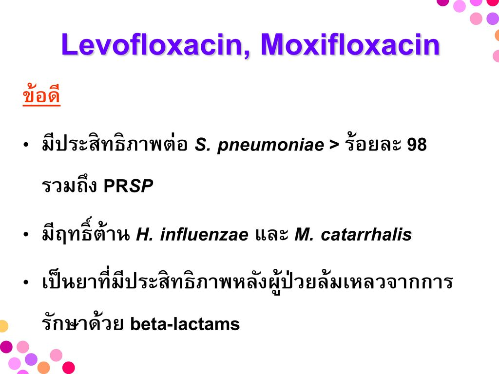 Levofloxacin, Moxifloxacin