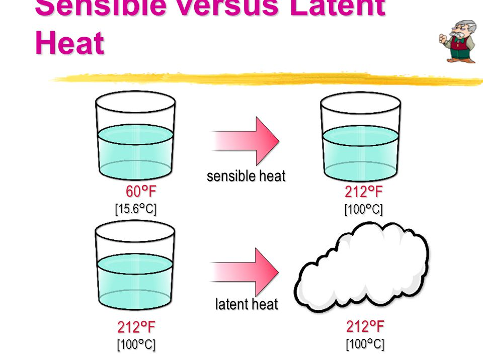 Sensible versus Latent Heat