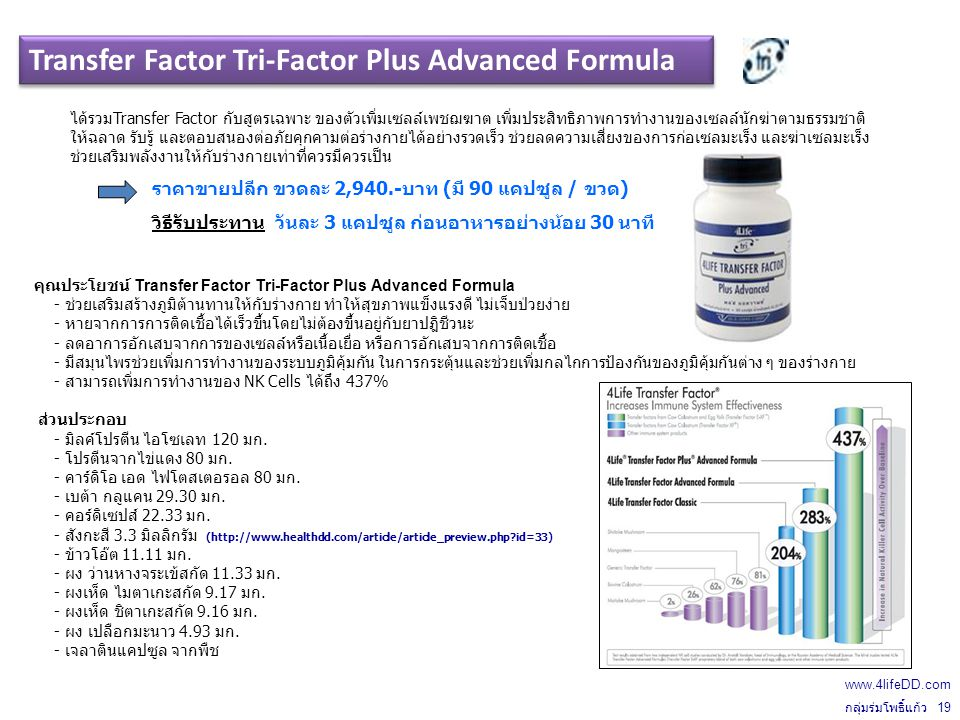 Transfer Factor Tri-Factor Plus Advanced Formula
