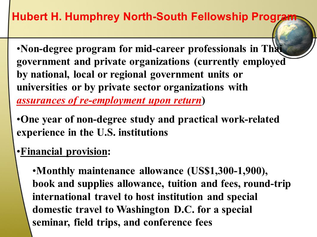 Hubert H. Humphrey North-South Fellowship Program