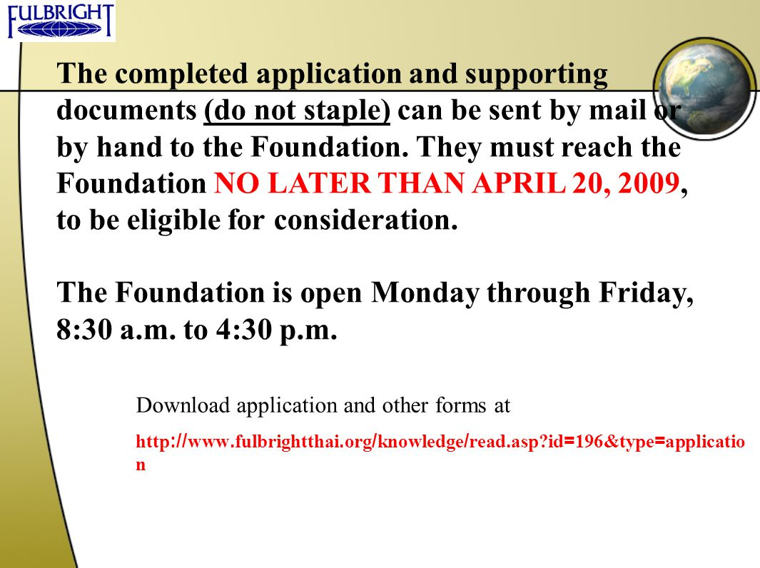 The Foundation is open Monday through Friday, 8:30 a.m. to 4:30 p.m.