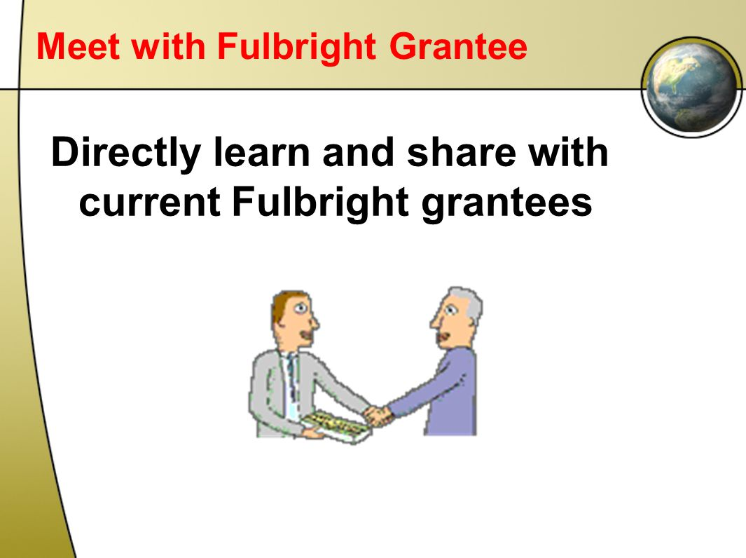 Meet with Fulbright Grantee