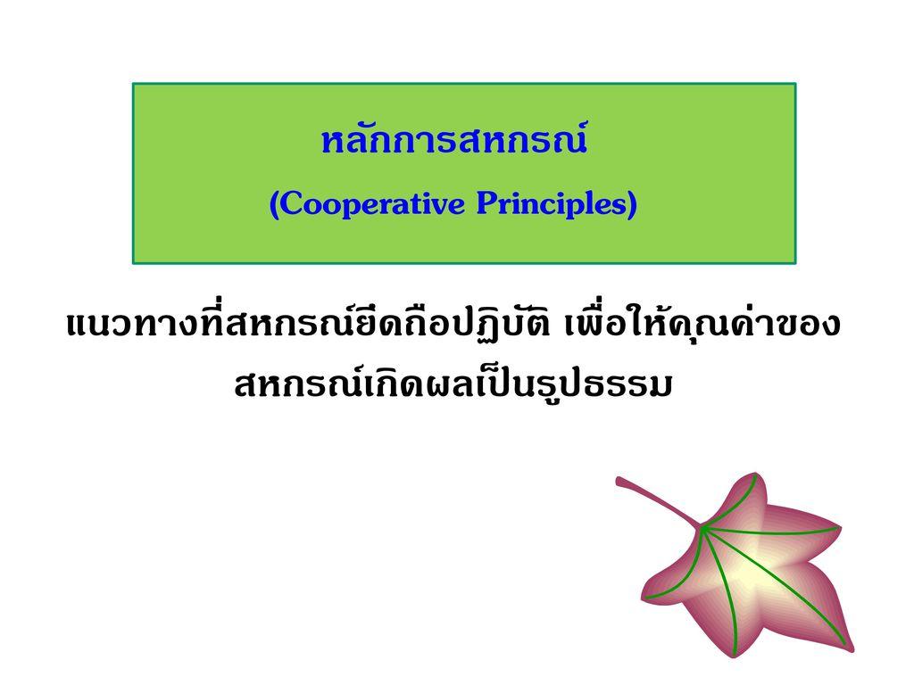 (Cooperative Principles)