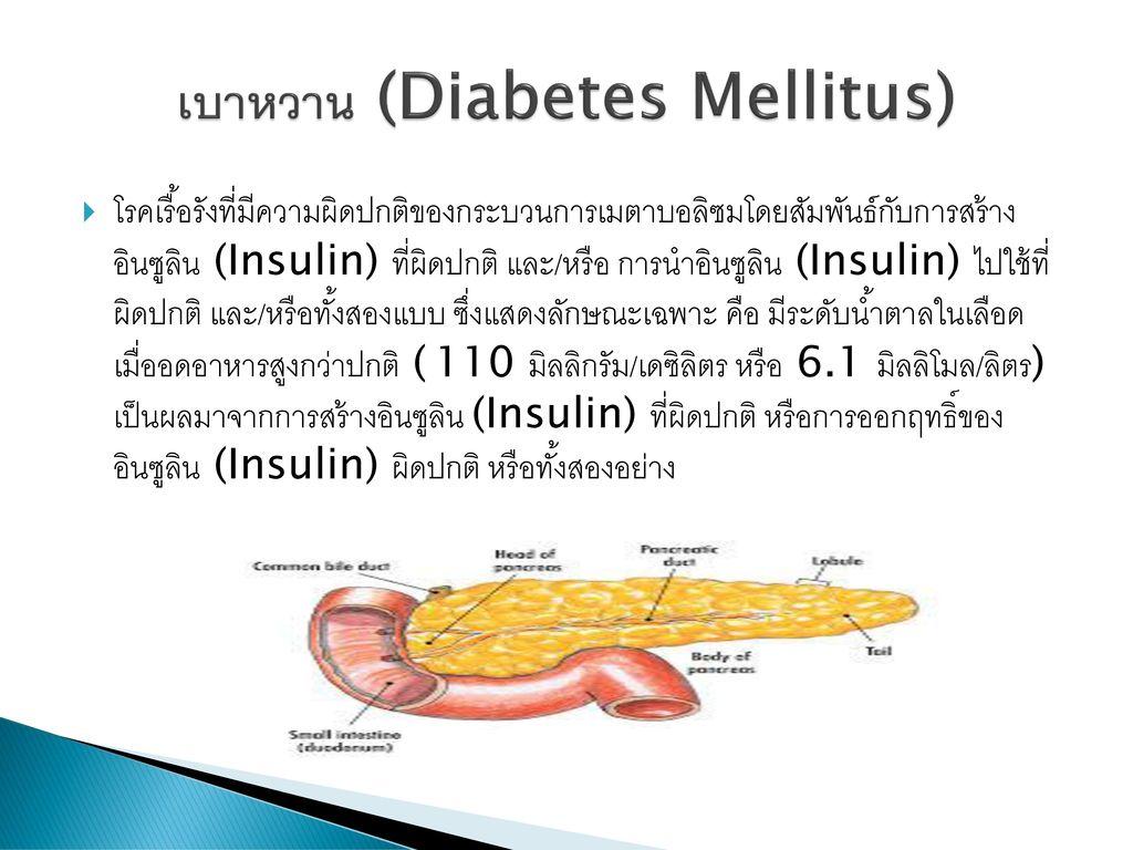 เบาหวาน (Diabetes Mellitus)
