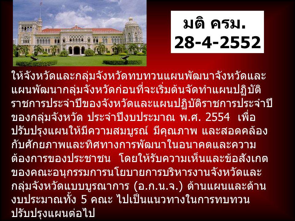 มติ ครม. 28-4-2552.