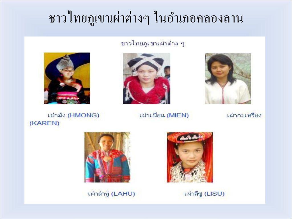 ชาวไทยภูเขาเผ่าต่างๆ ในอำเภอคลองลาน