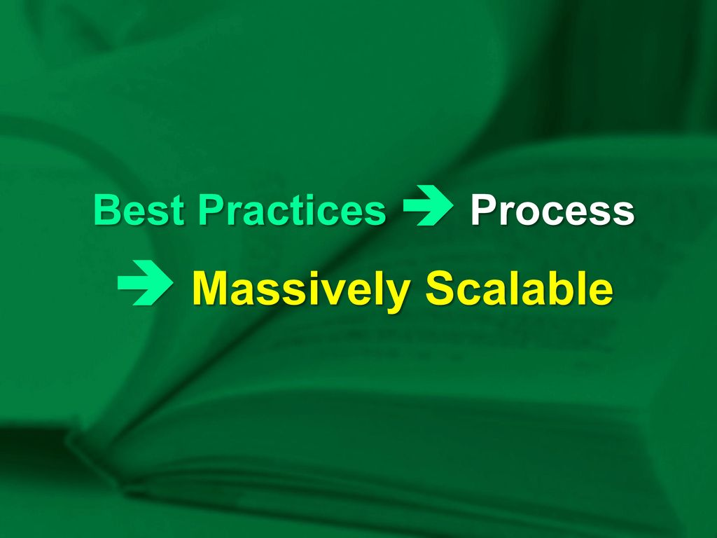 Best Practices  Process  Massively Scalable