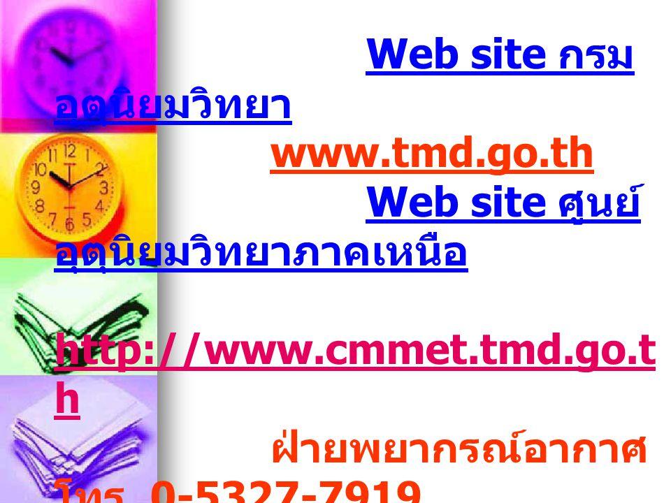 Web site กรมอุตุนิยมวิทยา