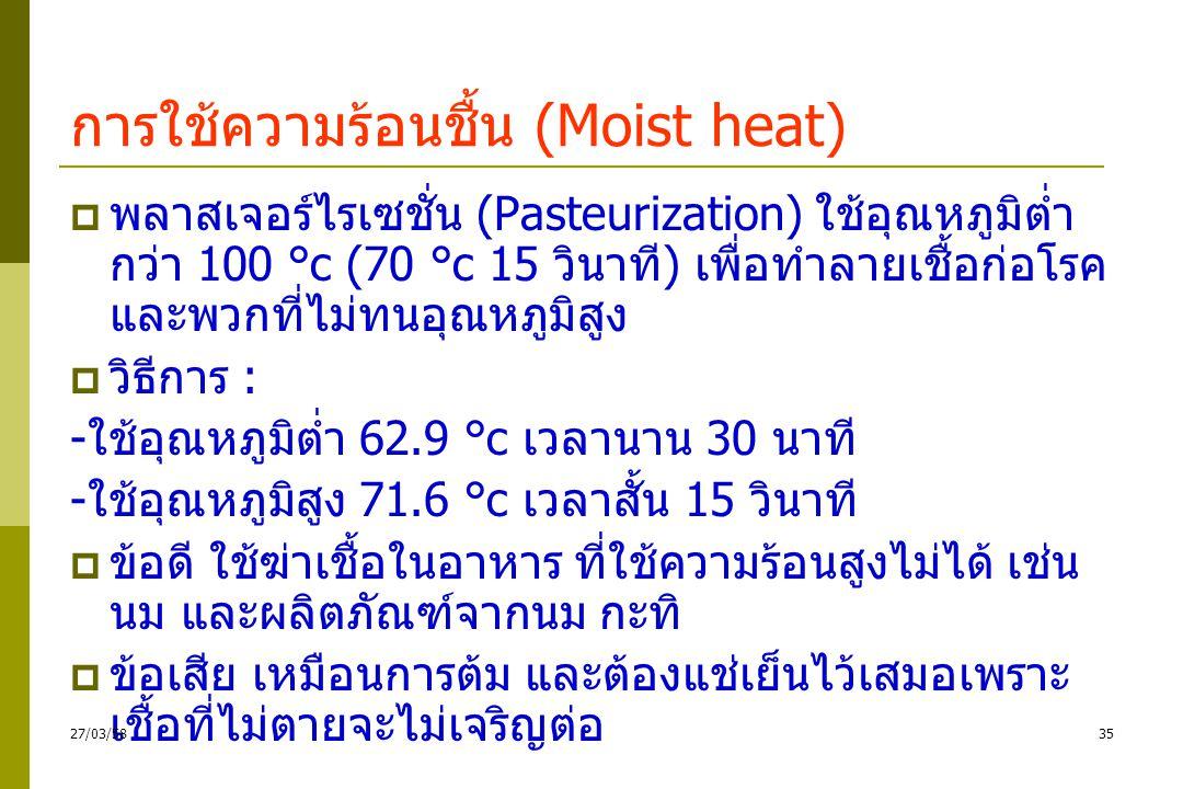 การใช้ความร้อนชื้น (Moist heat)