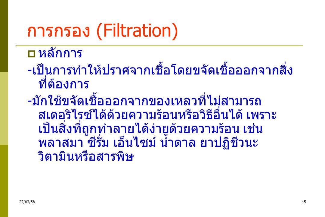 การกรอง (Filtration) หลักการ