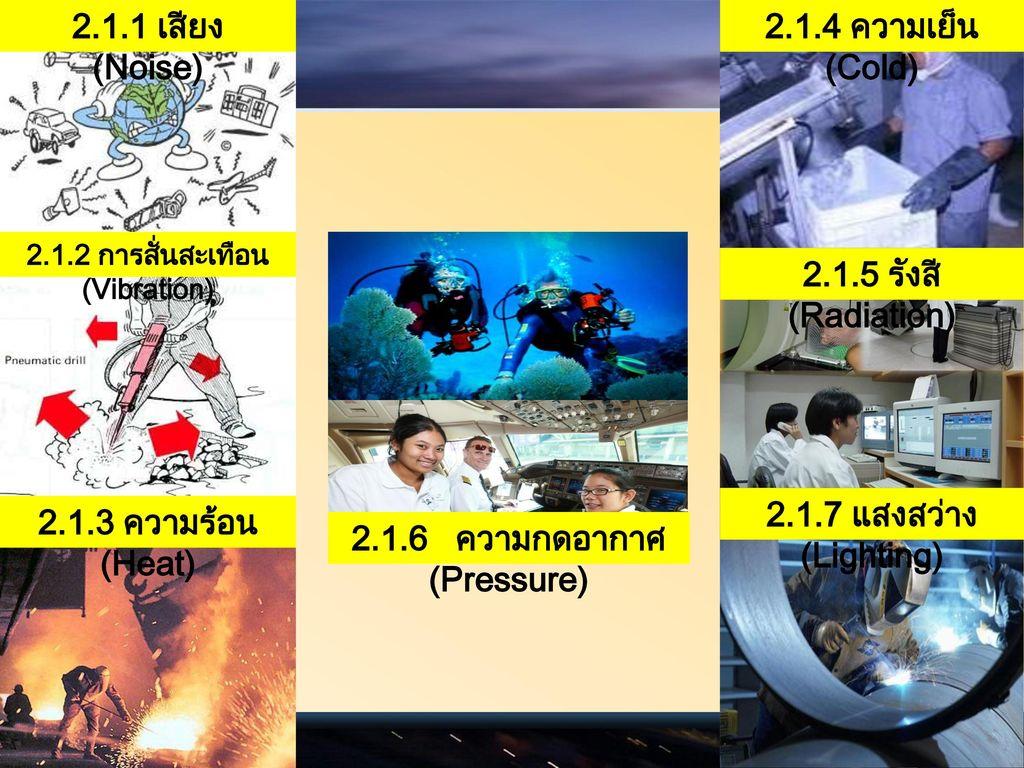 2.1.2 การสั่นสะเทือน (Vibration) 2.1.6 ความกดอากาศ (Pressure)