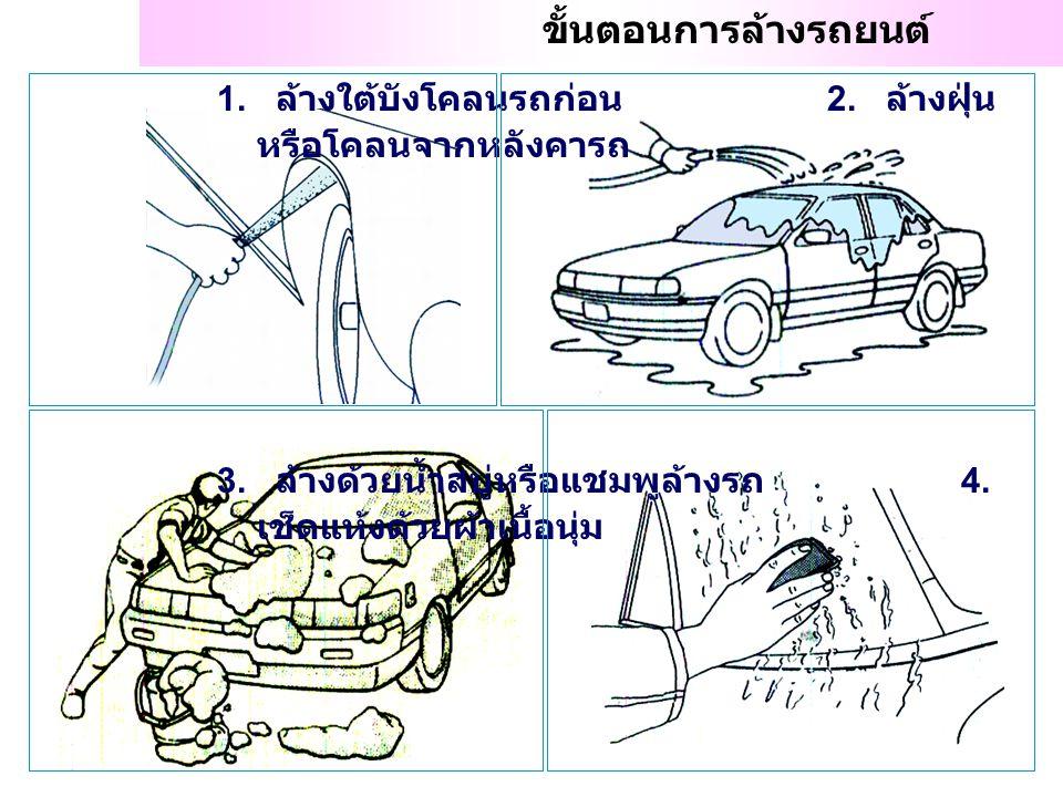 ขั้นตอนการล้างรถยนต์