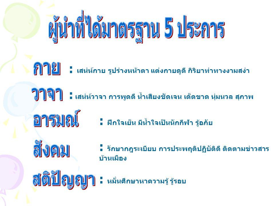 ผู้นำที่ได้มาตรฐาน 5 ประการ