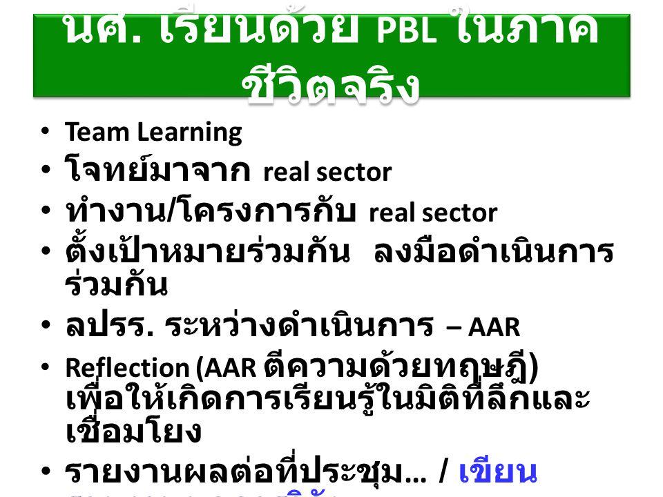นศ. เรียนด้วย PBL ในภาคชีวิตจริง