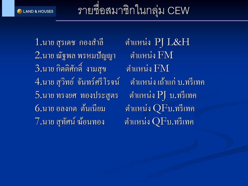 รายชื่อสมาชิกในกลุ่ม CEW