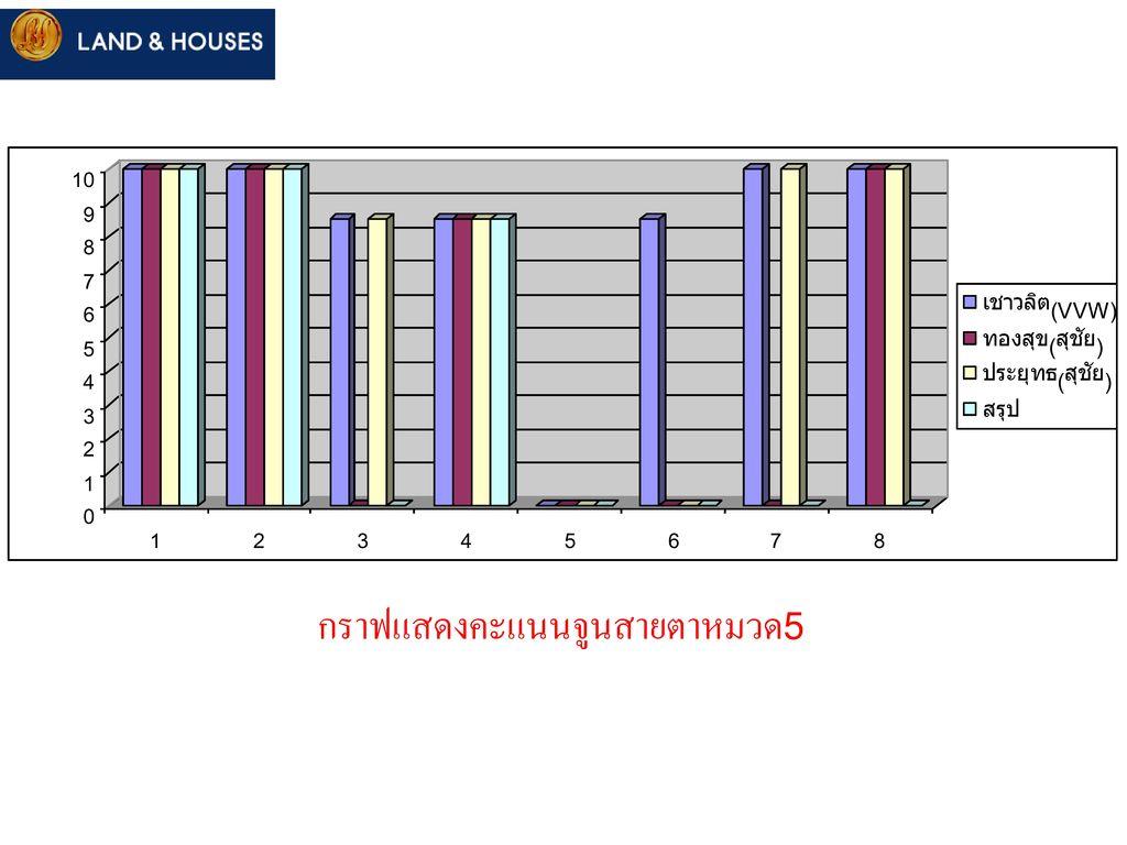 กราฟแสดงคะแนนจูนสายตาหมวด5