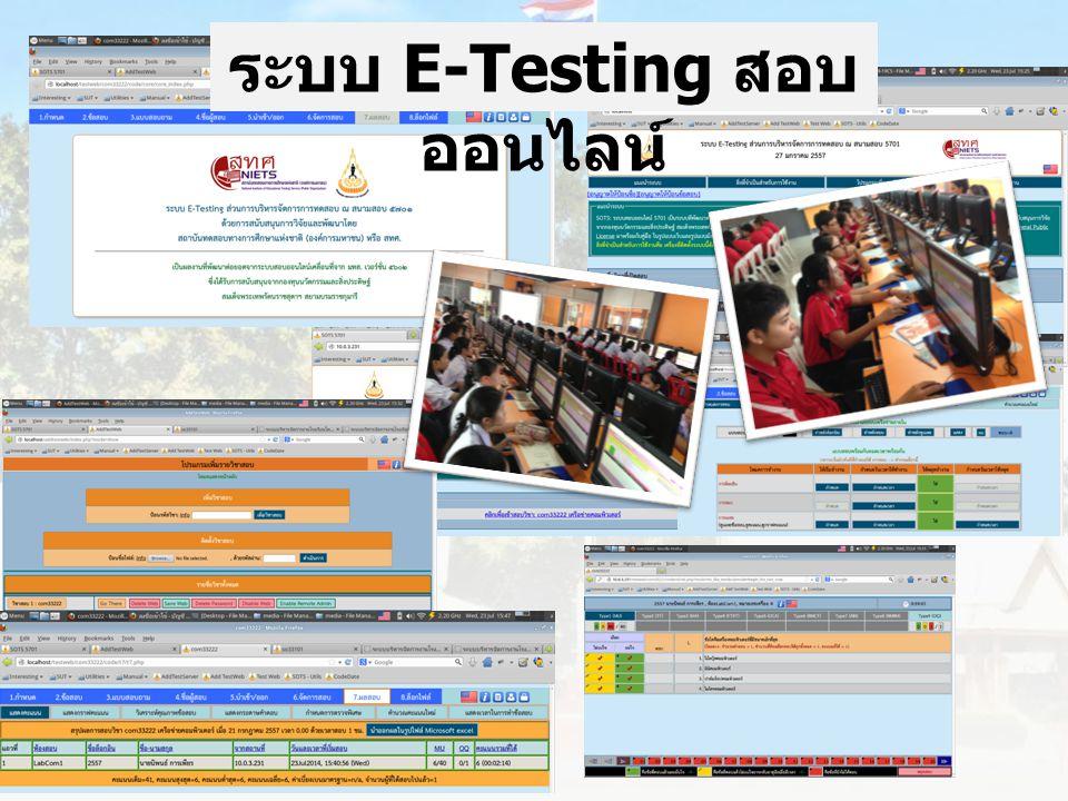 ระบบ E-Testing สอบออนไลน์